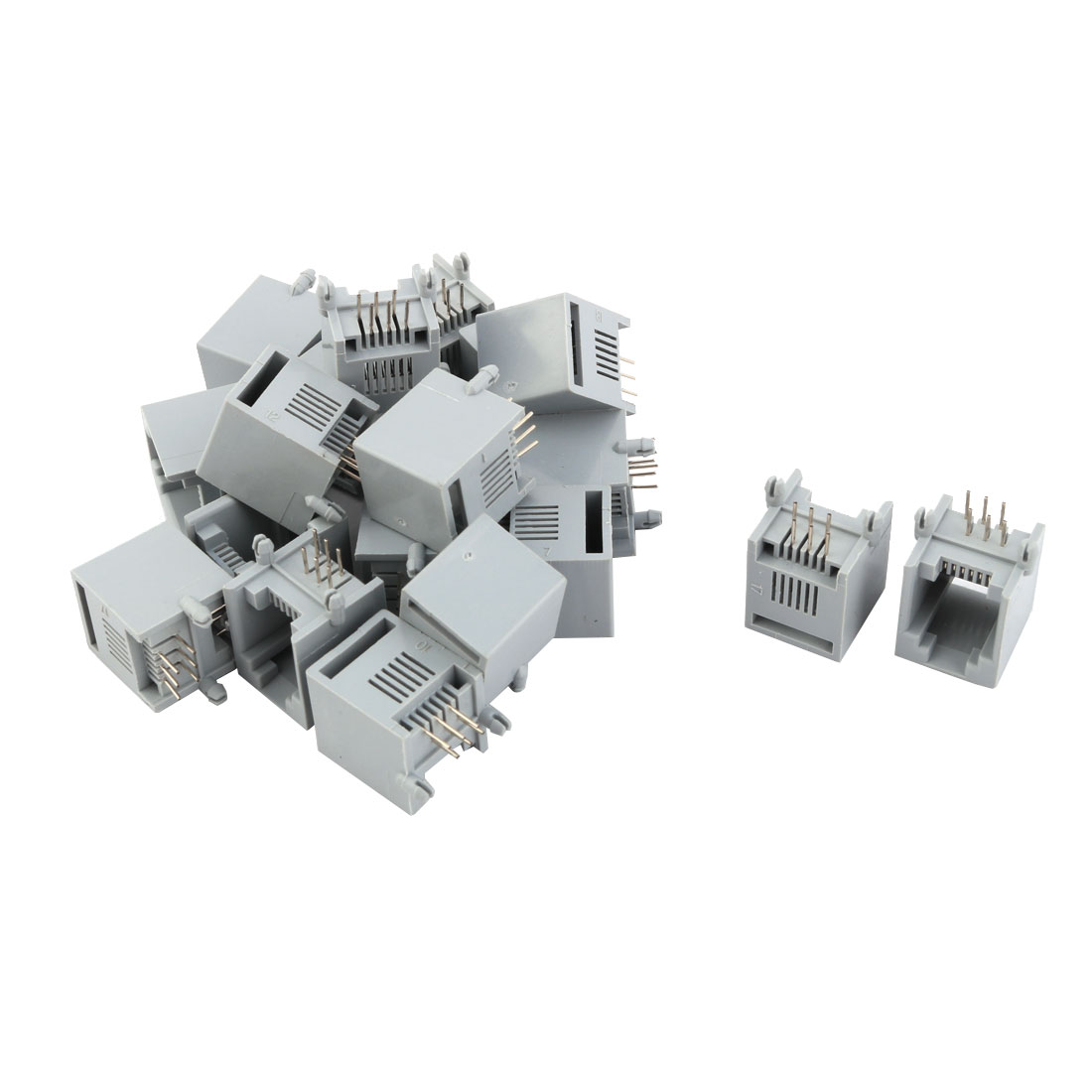 RJ12 6P6C Female PCB Mounting Modular Jack Adapter Telephone Phone Connector 20pcs