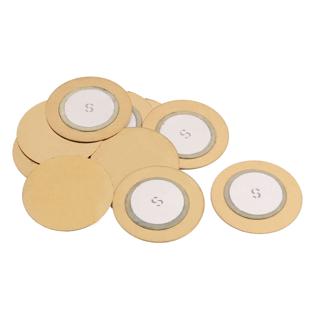 10Pcs 20mm Diameter Piezo Discs Piezoelectric Ceramic Copper Buzzer Film Gasket