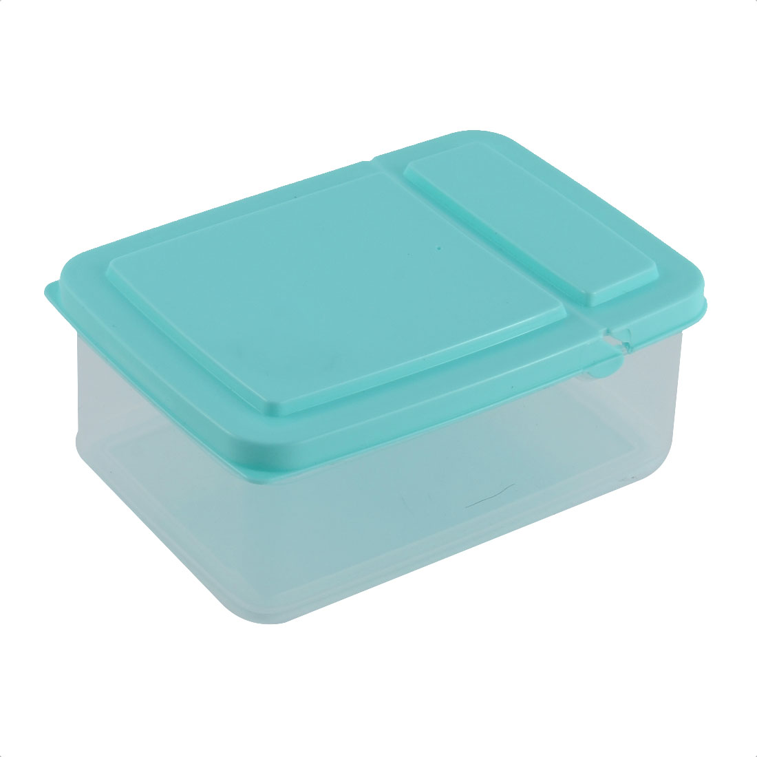 Kitchenware Pantry Refrigerator Freezer Plastic Transparent Storage Box Food Saver Blue