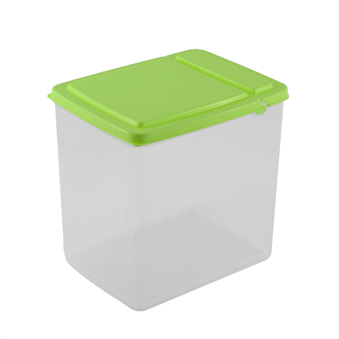 Kitchen Pantry Refrigerator Freezer Plastic Transparent Storage Box Organizer 15x11x16cm Green