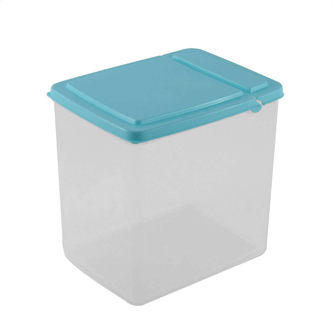 Kitchen Pantry Refrigerator Freezer Plastic Transparent Storage Box Organizer 15x11x16cm Blue
