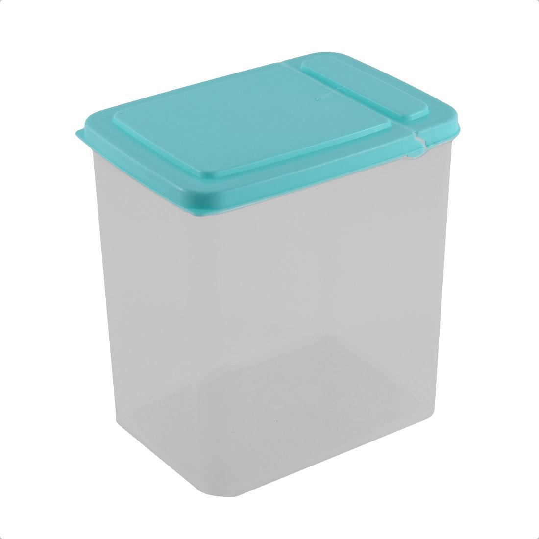 Kitchen Pantry Refrigerator Freezer Plastic Transparent Storage Box Container Blue
