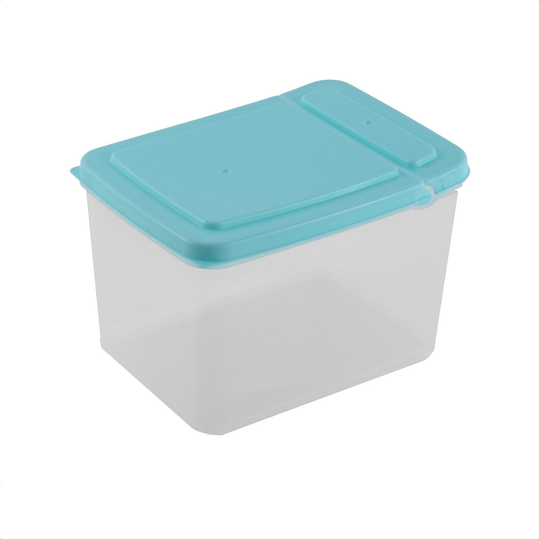 Household Pantry Refrigerator Freezer Plastic Transparent Storage Box Keeper Blue