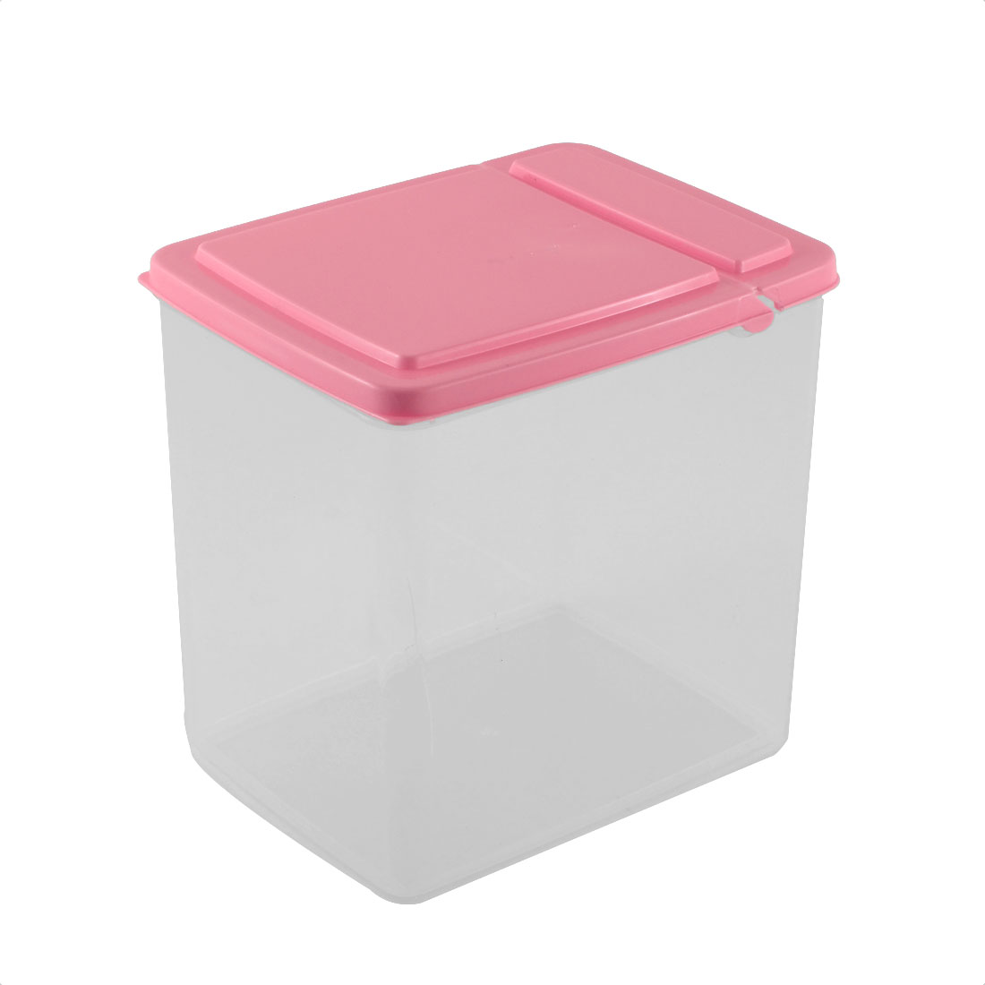 Kitchen Pantry Refrigerator Freezer Plastic Transparent Storage Box Organizer 15x11x16cm Pink