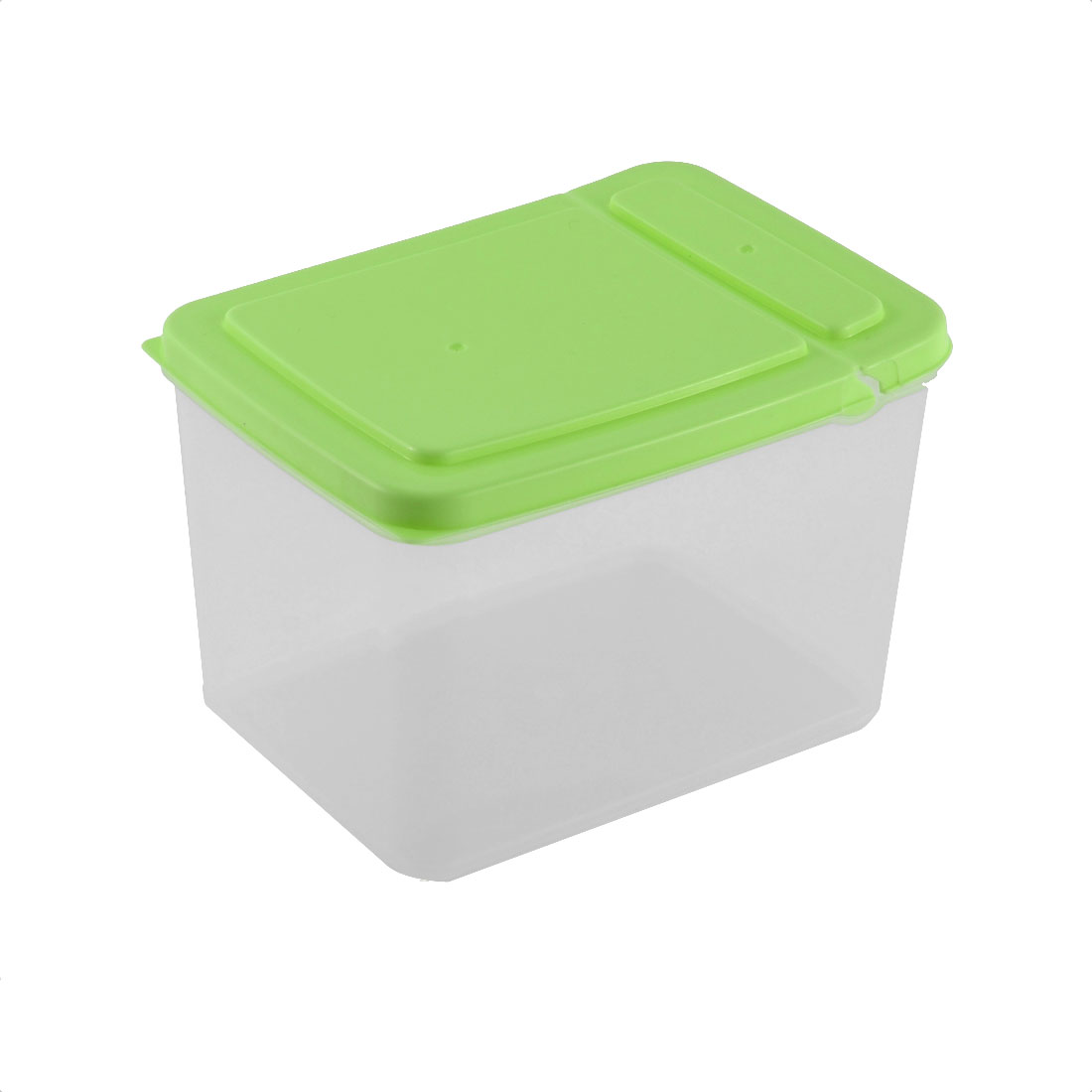 Household Pantry Refrigerator Freezer Plastic Transparent Storage Box Keeper Green