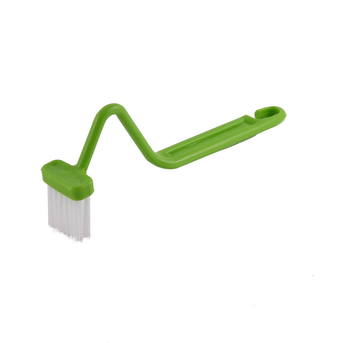 Home Bathroom S Shaped Curved Handle Toilet Washing Cleaning Brush Green