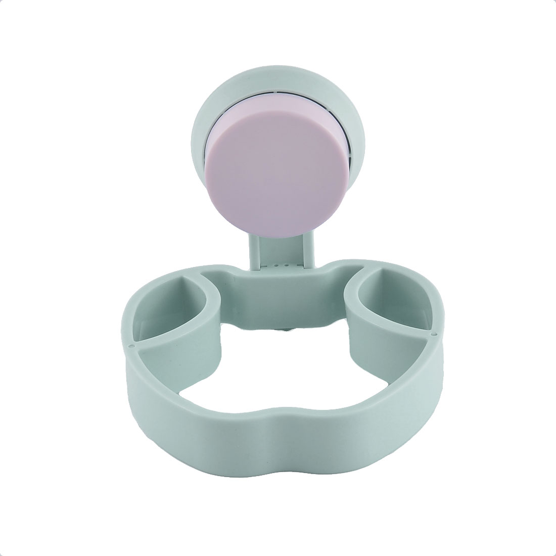 Household Home Plastic Wall Suction Cup Hair Dryer Hanger Holder Storage Pale Green
