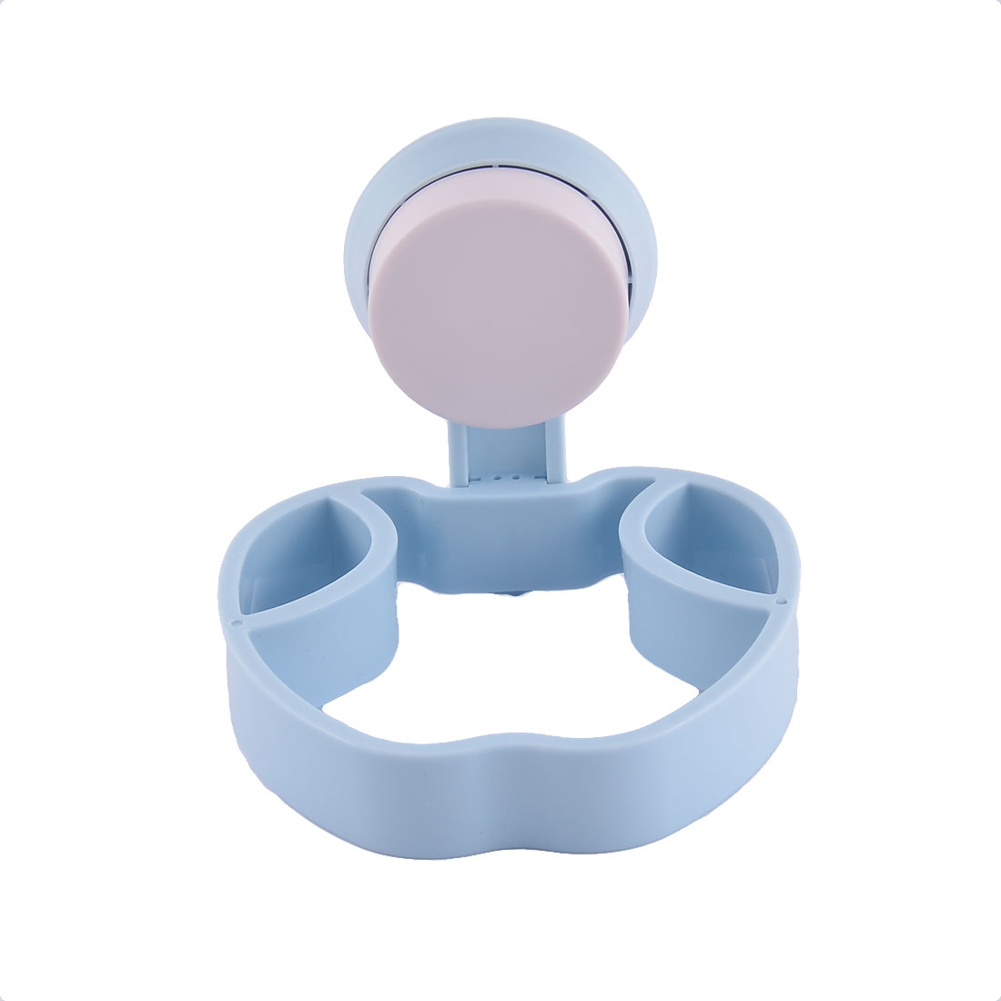 Household Home Plastic Wall Suction Cup Hair Dryer Hanger Holder Storage Blue