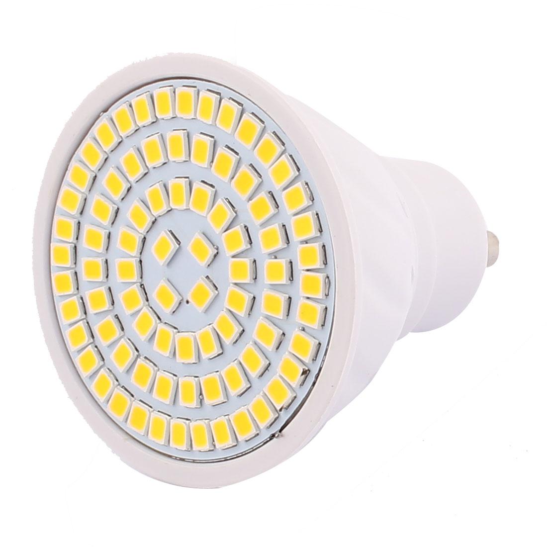 GU10 SMD 2835 80 LEDs Plastic Energy-Saving LED Lamp Bulb Warm White AC 220V 8W