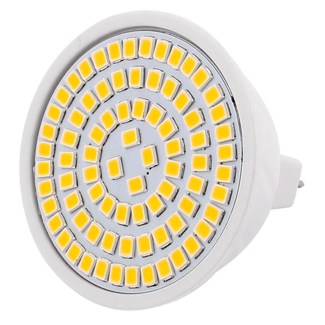 MR16 SMD 2835 80 LEDs Plastic Energy-Saving LED Lamp Bulb Warm White AC 110V 8W