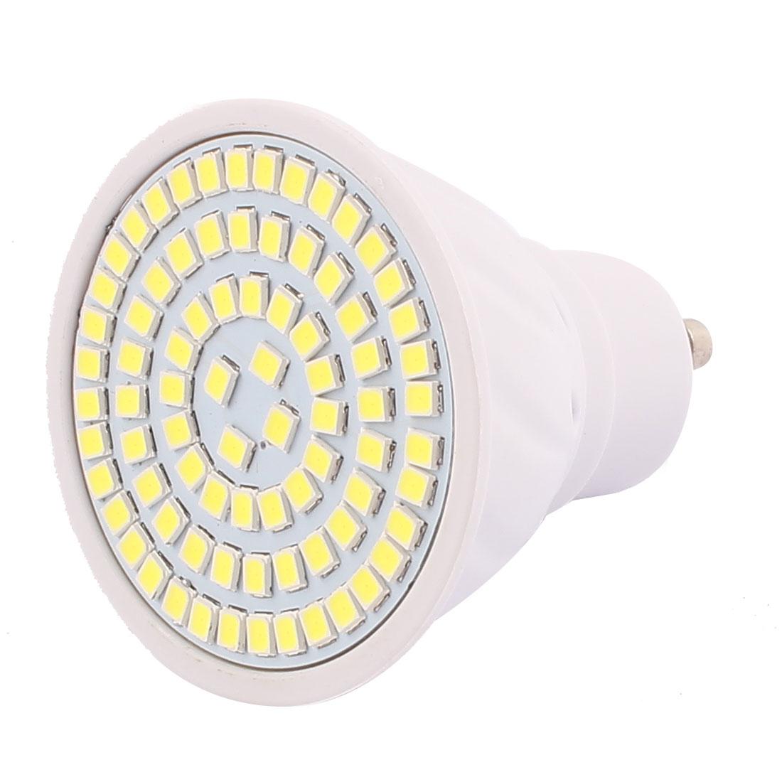 GU10 SMD 2835 80 LEDs Plastic Energy-Saving LED Lamp Bulb White AC 220V 8W