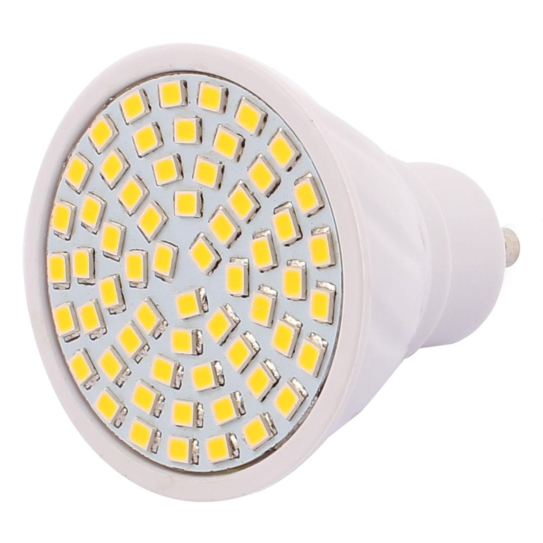 GU10 SMD 2835 60 LEDs Plastic Energy-Saving LED Lamp Bulb Warm White AC 110V 6W