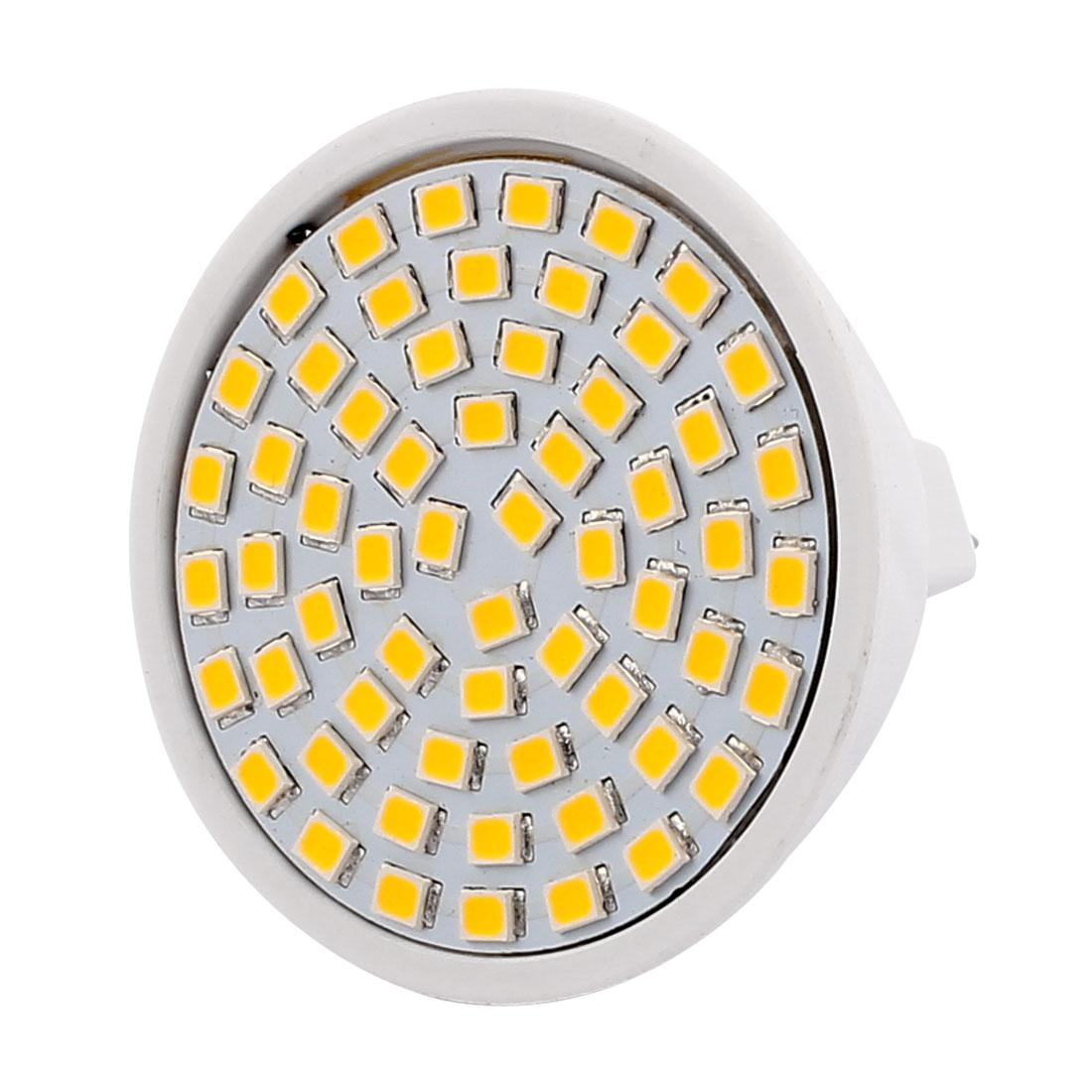 MR16 SMD 2835 60 LEDs Plastic Energy-Saving LED Lamp Bulb Warm White AC 220V 6W