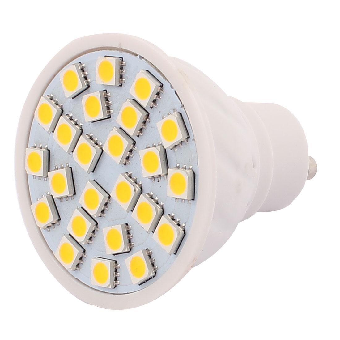GU10 SMD 5050 24 LEDs AC 220V 3W Plastic Energy Saving LED Lamp Bulb Warm White