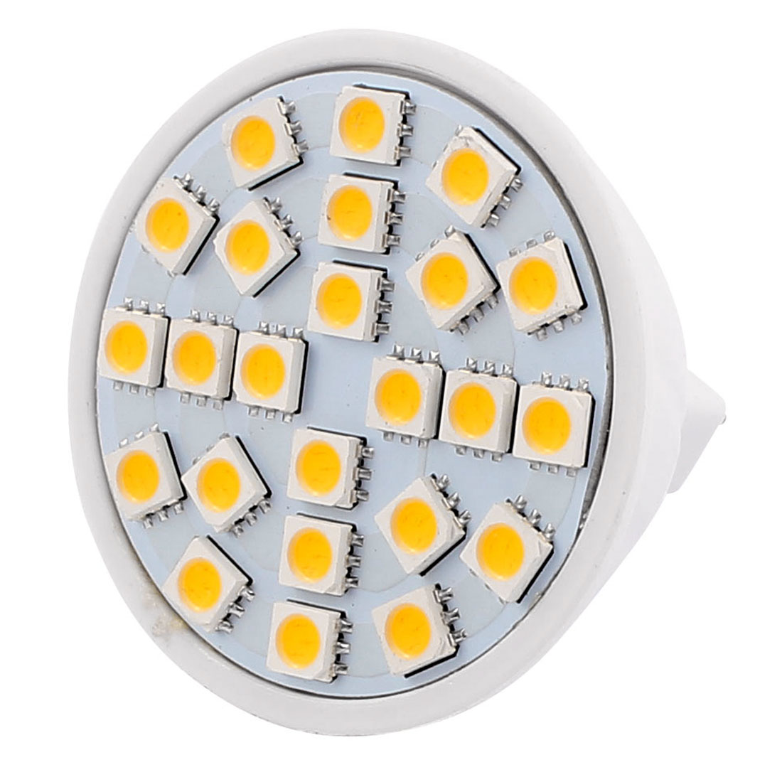 MR16 AC 220V 3W SMD 5050 24 LEDs Plastic Energy Saving LED Lamp Bulb Warm White