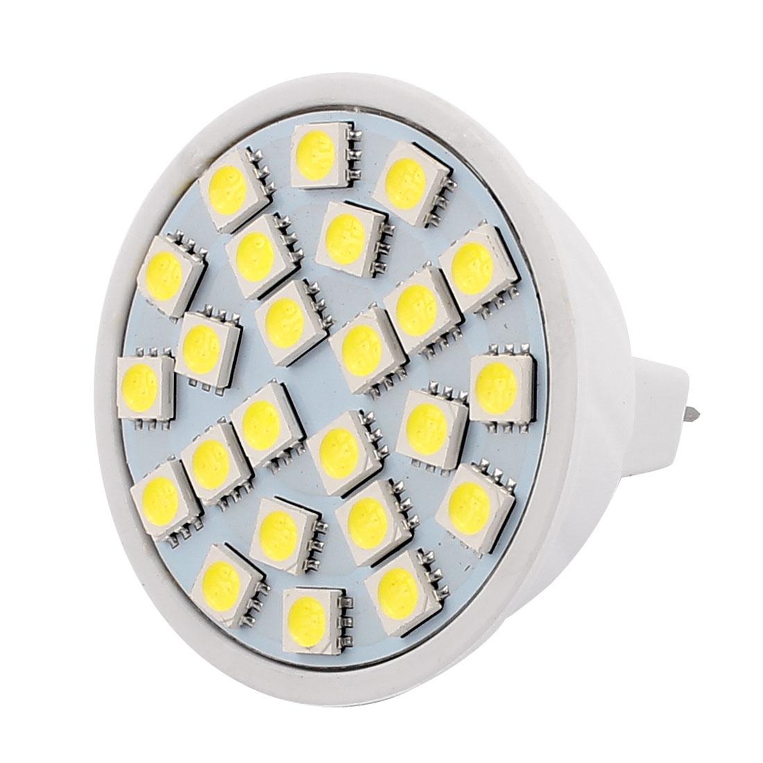 MR16 AC 220V 3W SMD 5050 24 LEDs Plastic Energy-Saving LED Lamp Bulb White