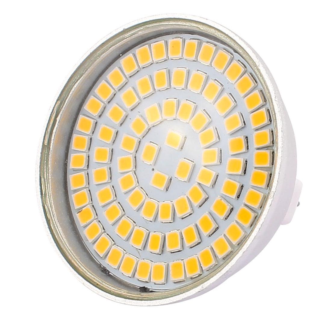 MR16 SMD 2835 80 LEDs Aluminum Energy Saving LED Lamp Bulb Warm White AC 110V 8W