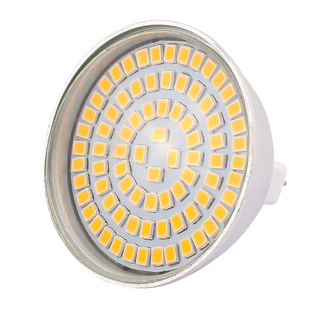 MR16 SMD 2835 80 LEDs Aluminum Energy Saving LED Lamp Bulb Warm White AC 220V 8W