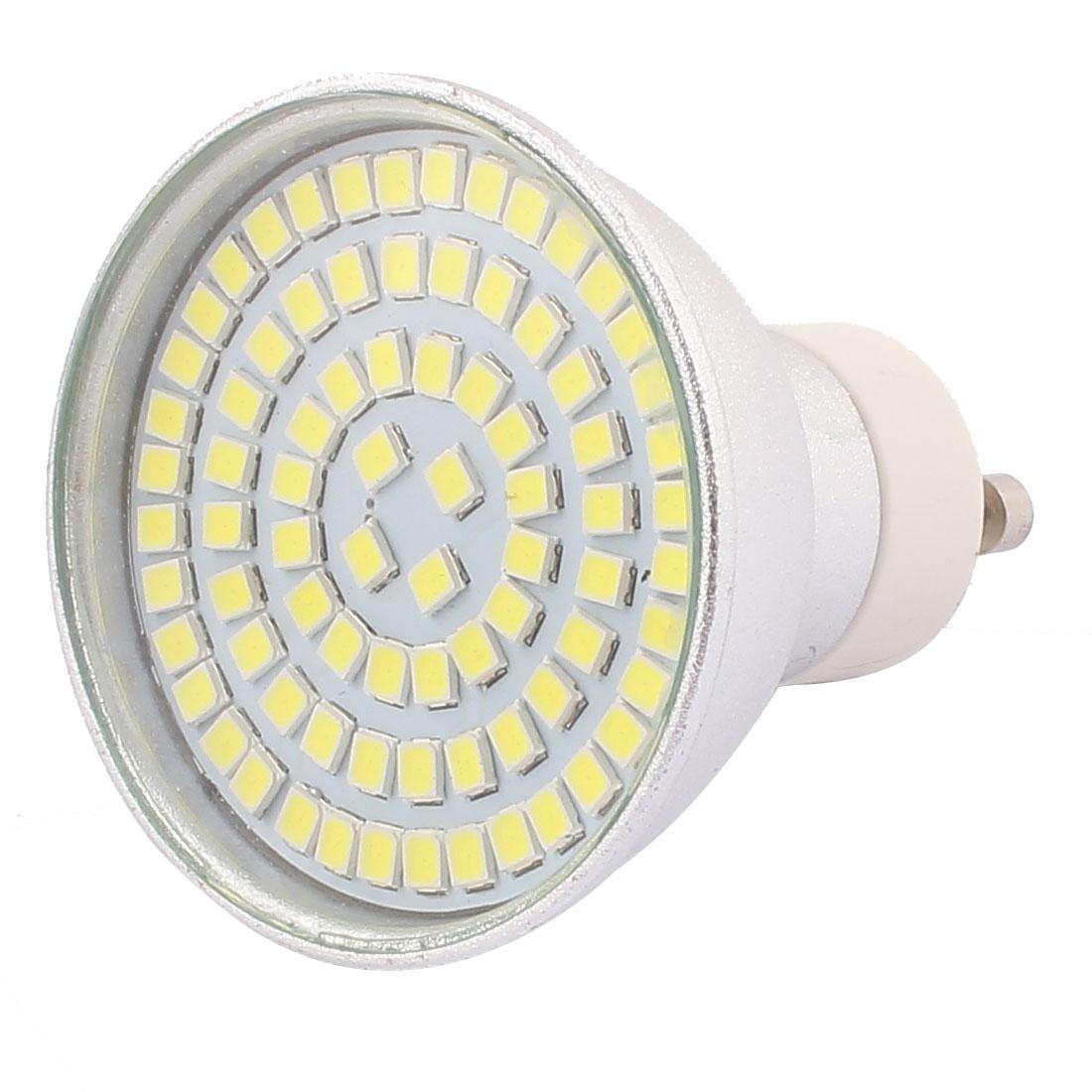 GU10 SMD 2835 80 LEDs Aluminum Energy Saving LED Lamp Bulb White AC 220V 8W