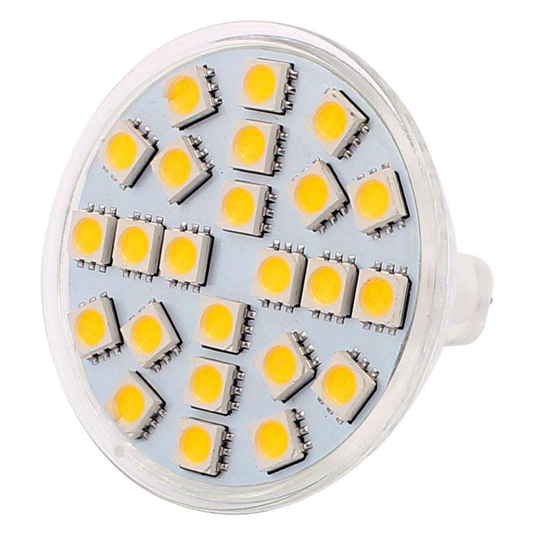 MR16 SMD 5050 24 LEDs Glass Energy Saving LED Lamp Bulb Warm White AC 110V 3W