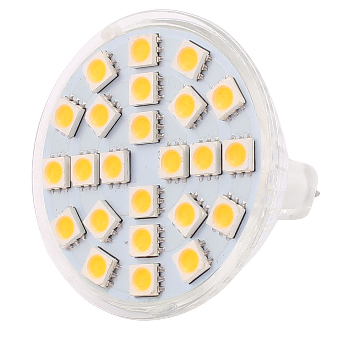 MR16 SMD 5050 24 LEDs Glass Energy Saving LED Lamp Bulb Warm White AC 220V 3W