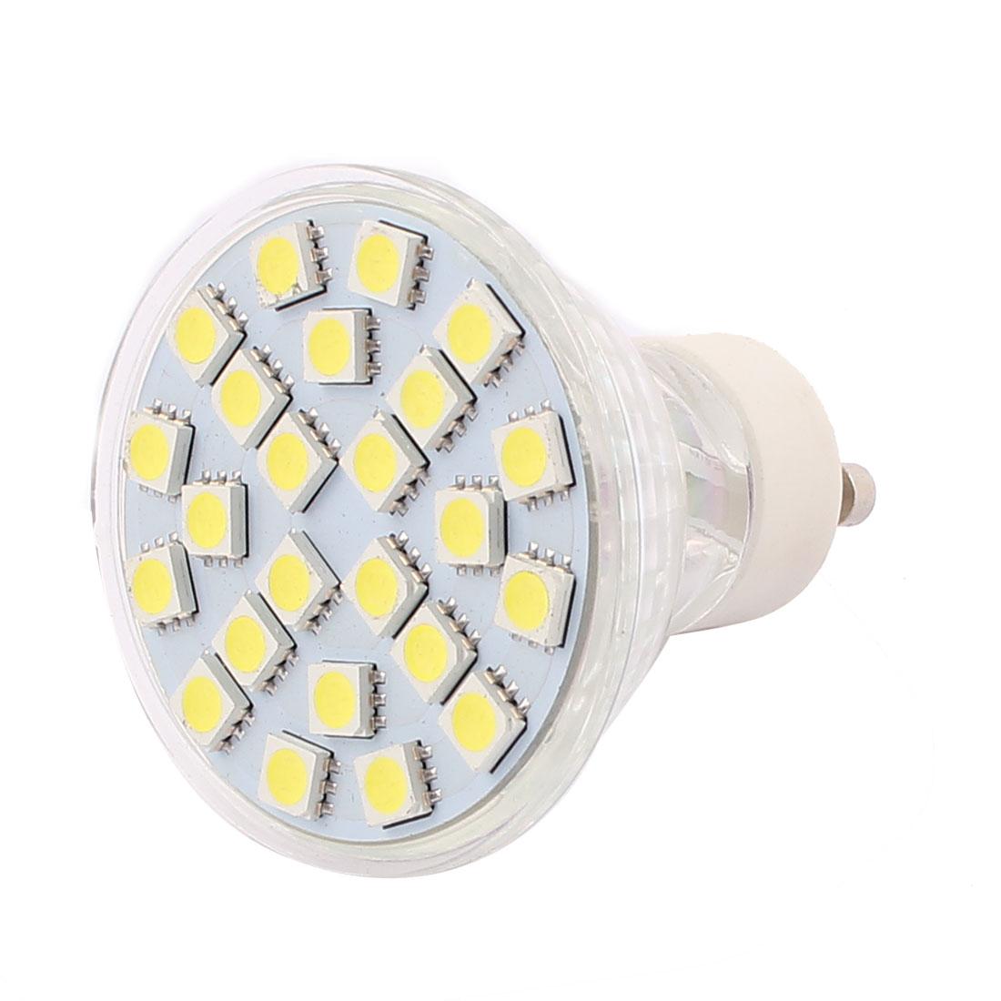 GU10 SMD 5050 24 LEDs Glass Energy Saving LED Lamp Bulb White AC 220V 3W