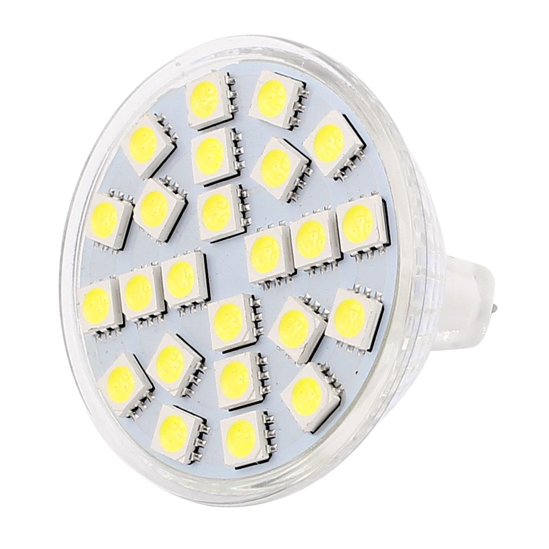 MR16 AC 110V 3W SMD5050 24LEDs Glass Energy Saving LED Lamp Bulb White