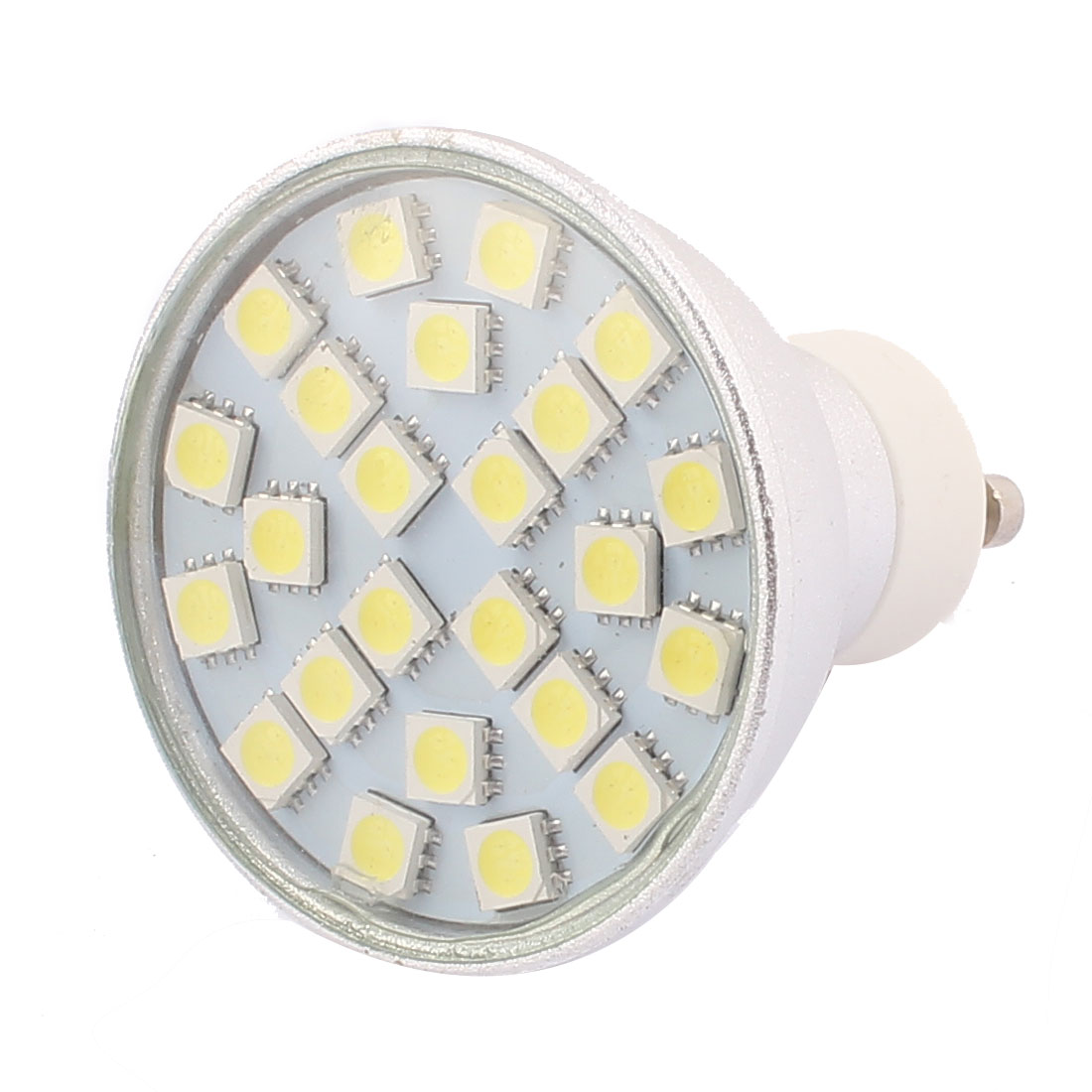 GU10 SMD5050 24LEDs Aluminum Energy Saving LED Lamp Bulb White AC 220V~240V 3W