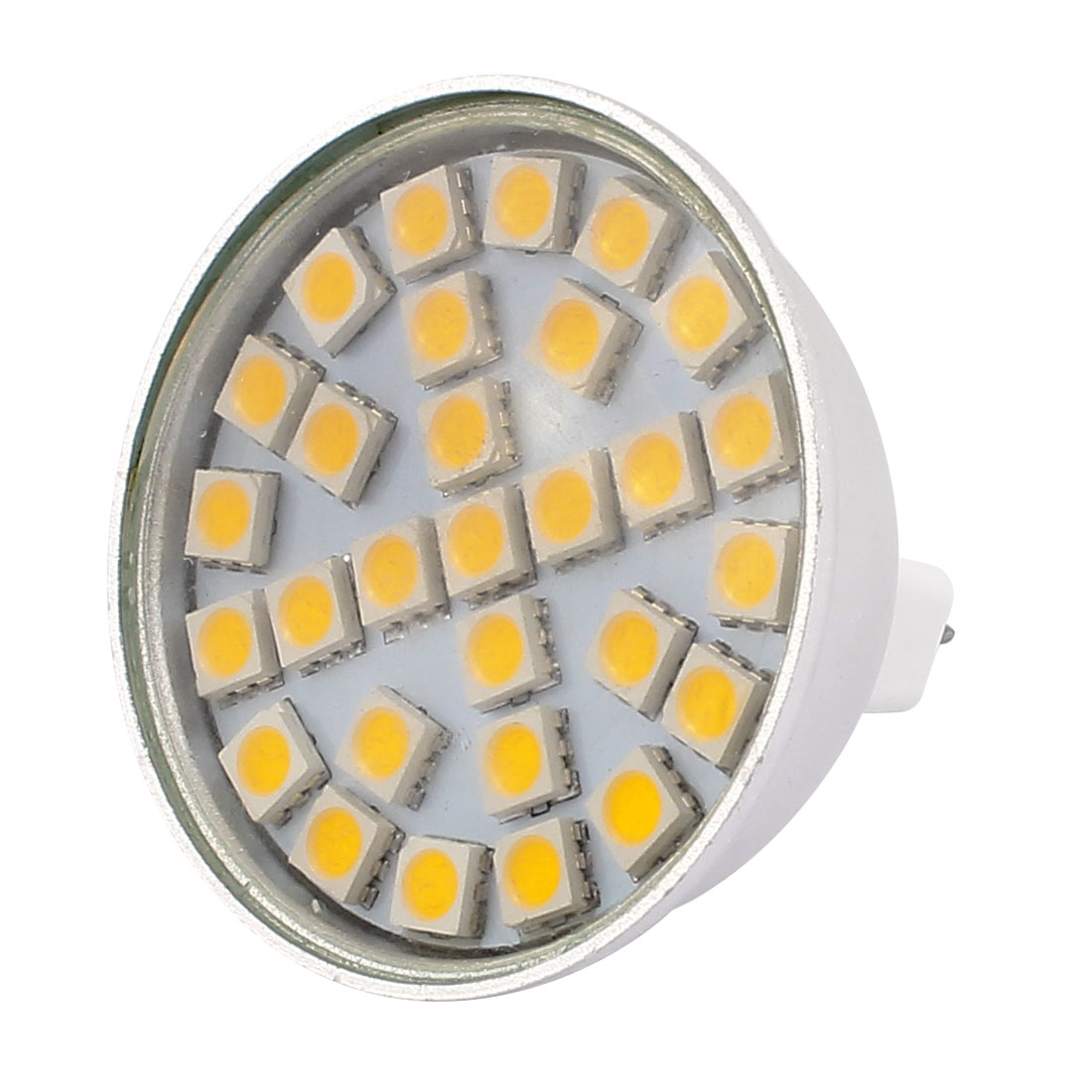 MR16 SMD5050 29LEDs Aluminum Energy Saving LED Lamp Bulb Warm White AC 220V 5W