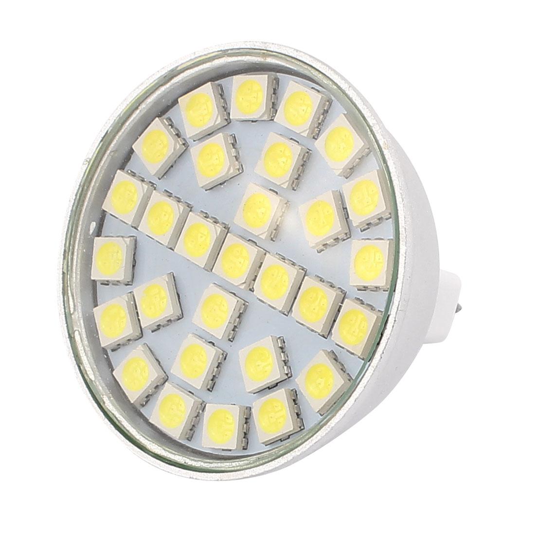 MR16 SMD5050 29LEDs Aluminum Energy Saving LED Lamp Bulb White AC 220V 5W