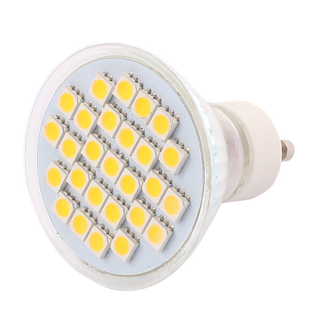 GU10 SMD5050 27LEDs Glass Energy Saving LED Lamp Bulb Warm White AC 110V 4W