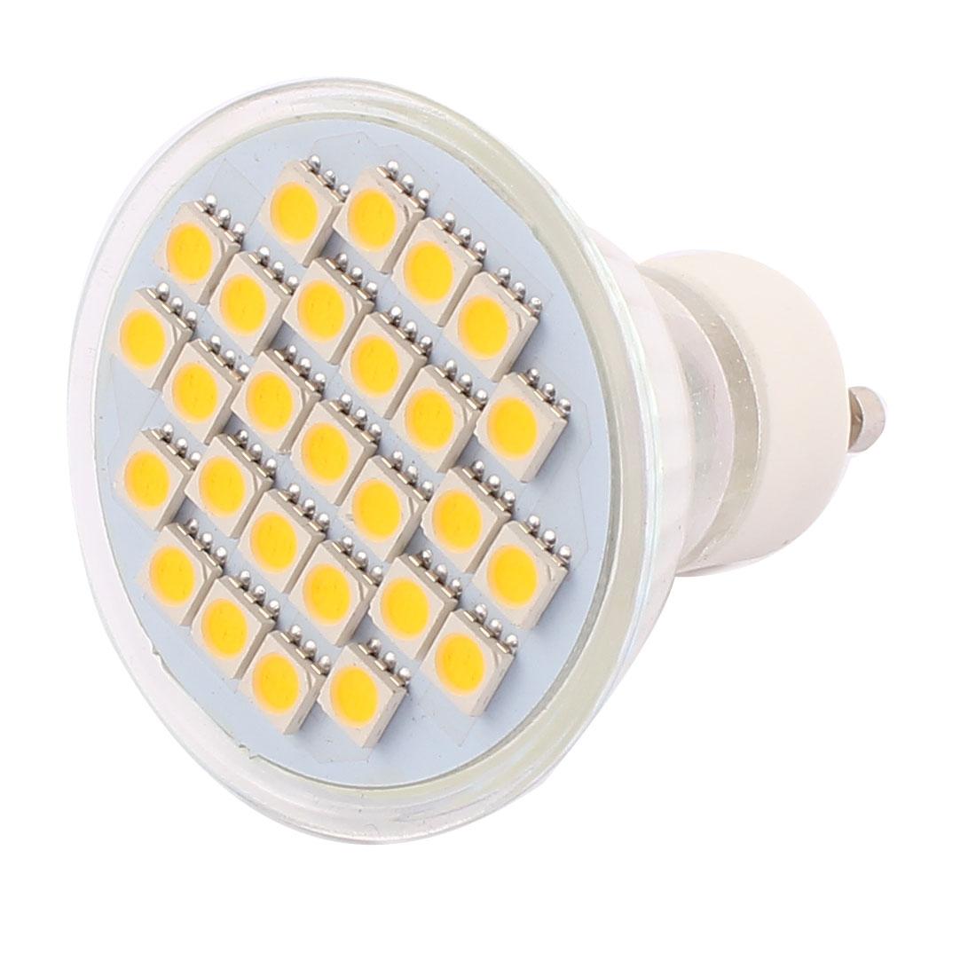 GU10 SMD5050 27LEDs AC 220V 4W Glass Energy Saving LED Lamp Bulb Warm White