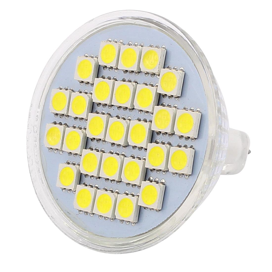 MR16 4W SMD5050 27LEDs Glass Energy Saving LED Lamp Bulb White AC 110V