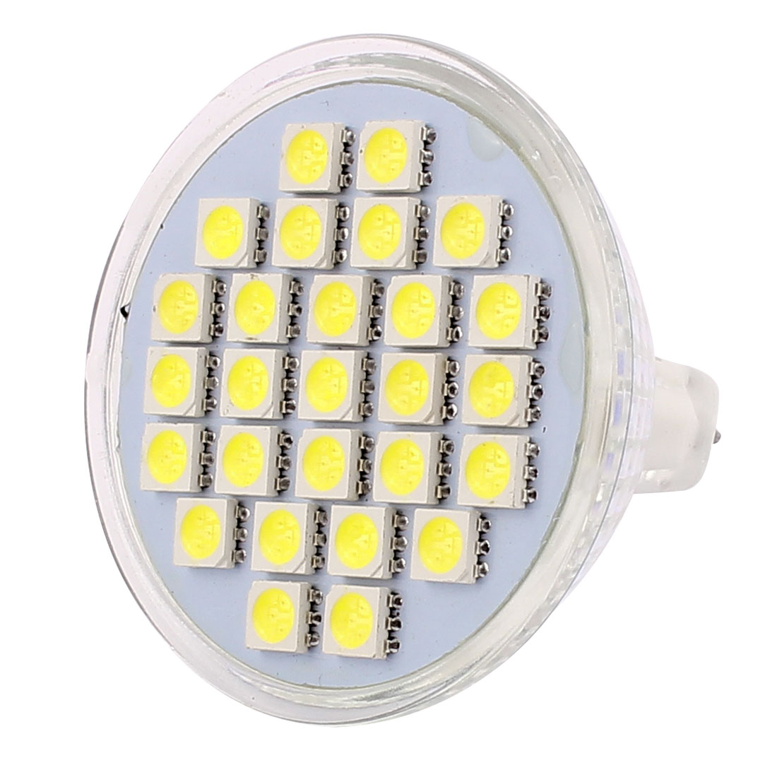 MR16 AC 220V 4W SMD5050 27LEDs Glass Energy Saving LED Lamp Bulb White