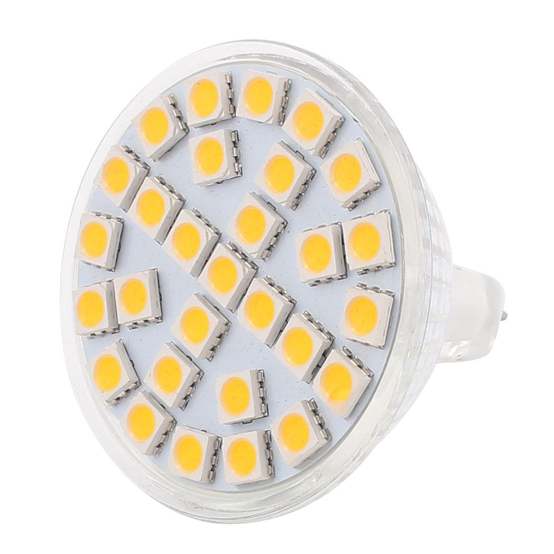 MR16 SMD5050 29LEDs 5W Glass Energy Saving LED Lamp Bulb Warm White AC 220V