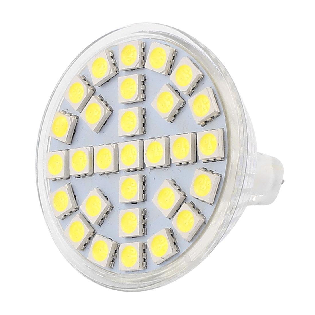 MR16 SMD5050 29LEDs AC 110V 5W Glass Energy Saving LED Spotlight Lamp Bulb White