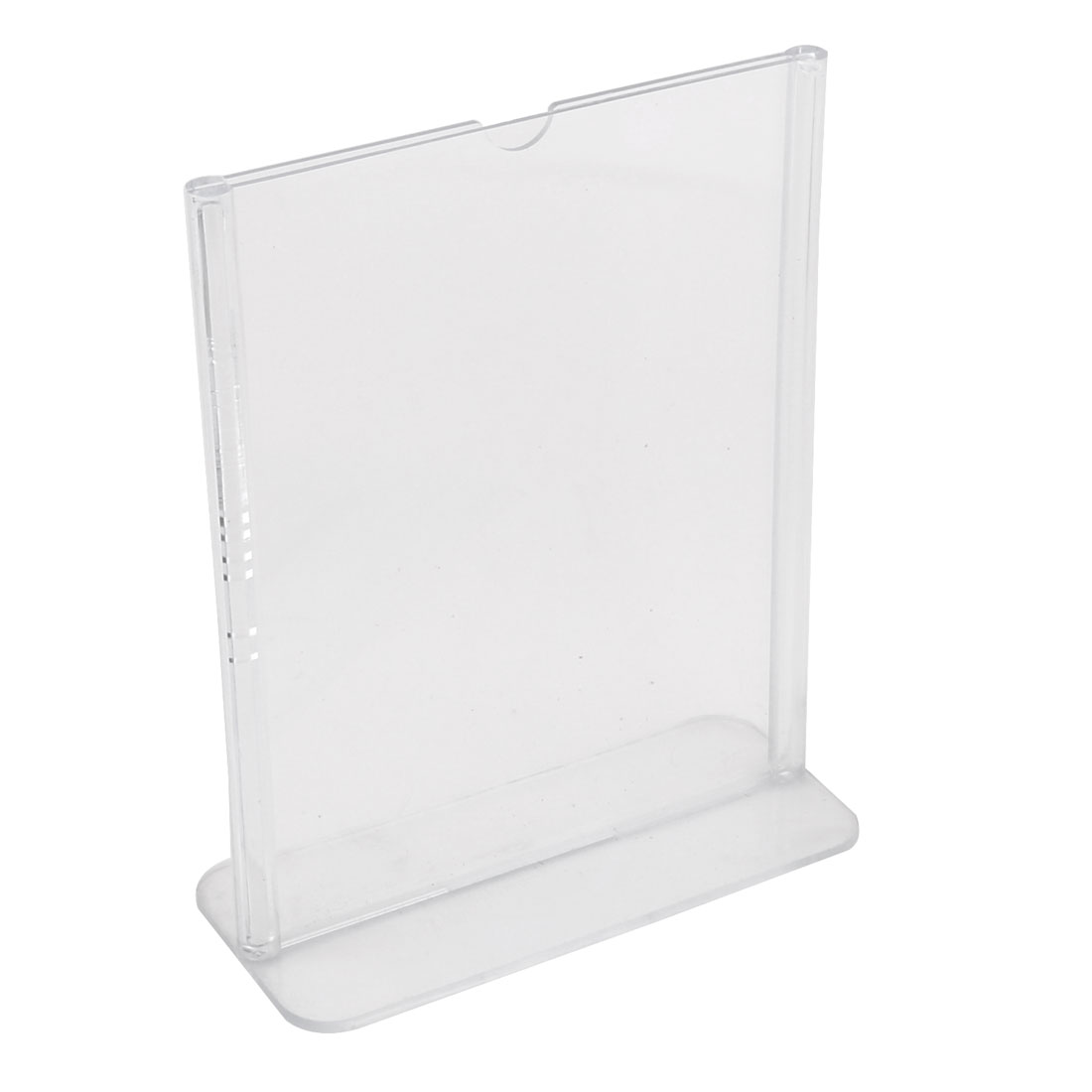 Plastic Upright Business Table Card Display Ad Sign Menu Stand Holder Clear