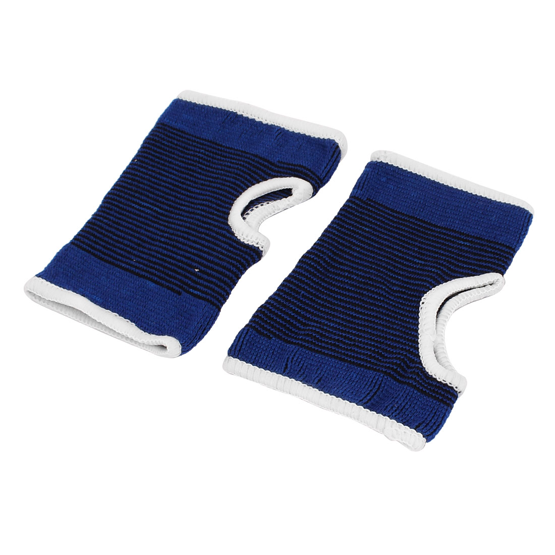 Athletic Volleyball Band Wrist Palm Support Protector Dark Blue Black Pair