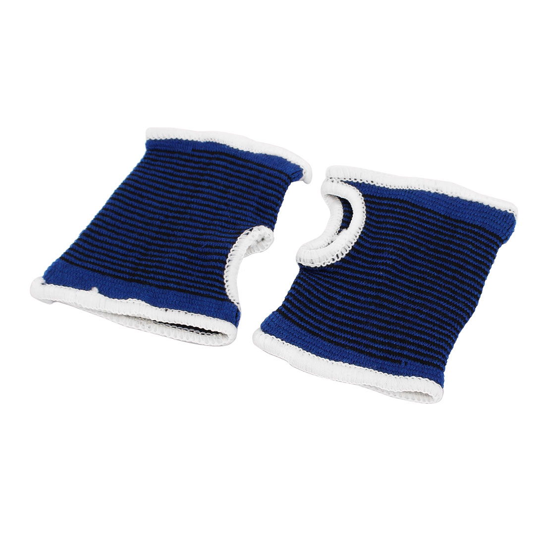 Athletic Sport Band Wrist Palm Support Protector Dark Blue Black Pair