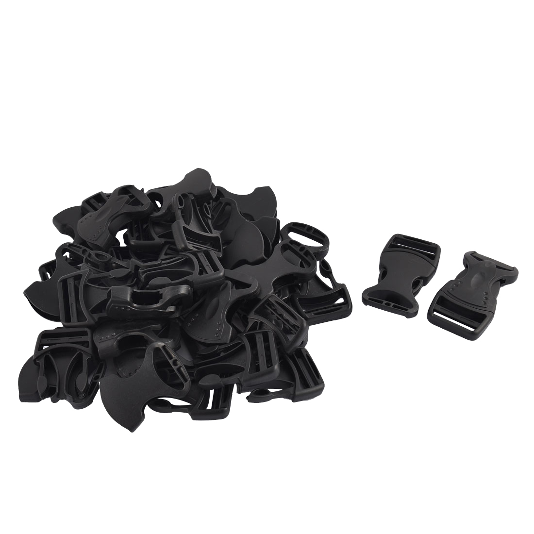 School Bag Backpack Strap Plastic Side Quick Release Buckles Black 27mm 20pcs