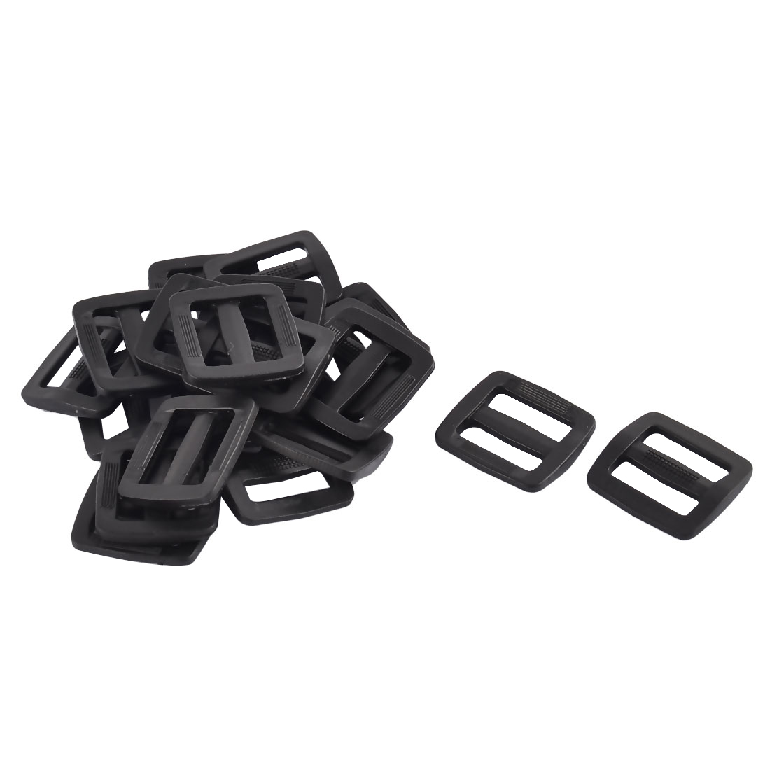 Luggage Bag Hard Plastic Rectangle Removable Buckles 2.8cm Black 20pcs