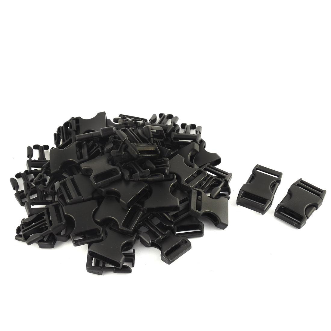 Backpack Bag Strap Plastic Side Quick Release Buckle Black 26mm Width 30pcs