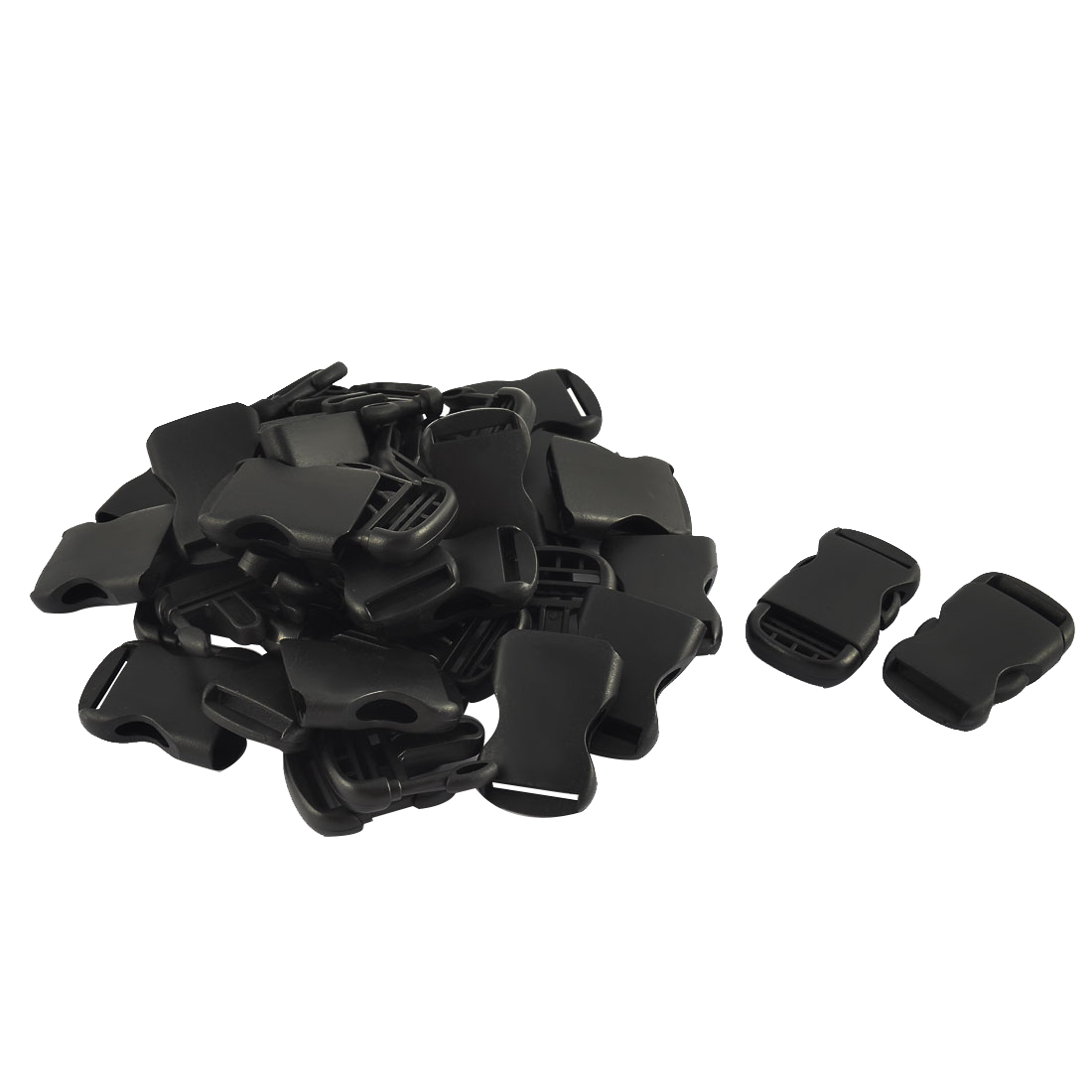 Rucksack Bag Plastic Side Quick Release Buckle Black 26mm Strap Width 20pcs