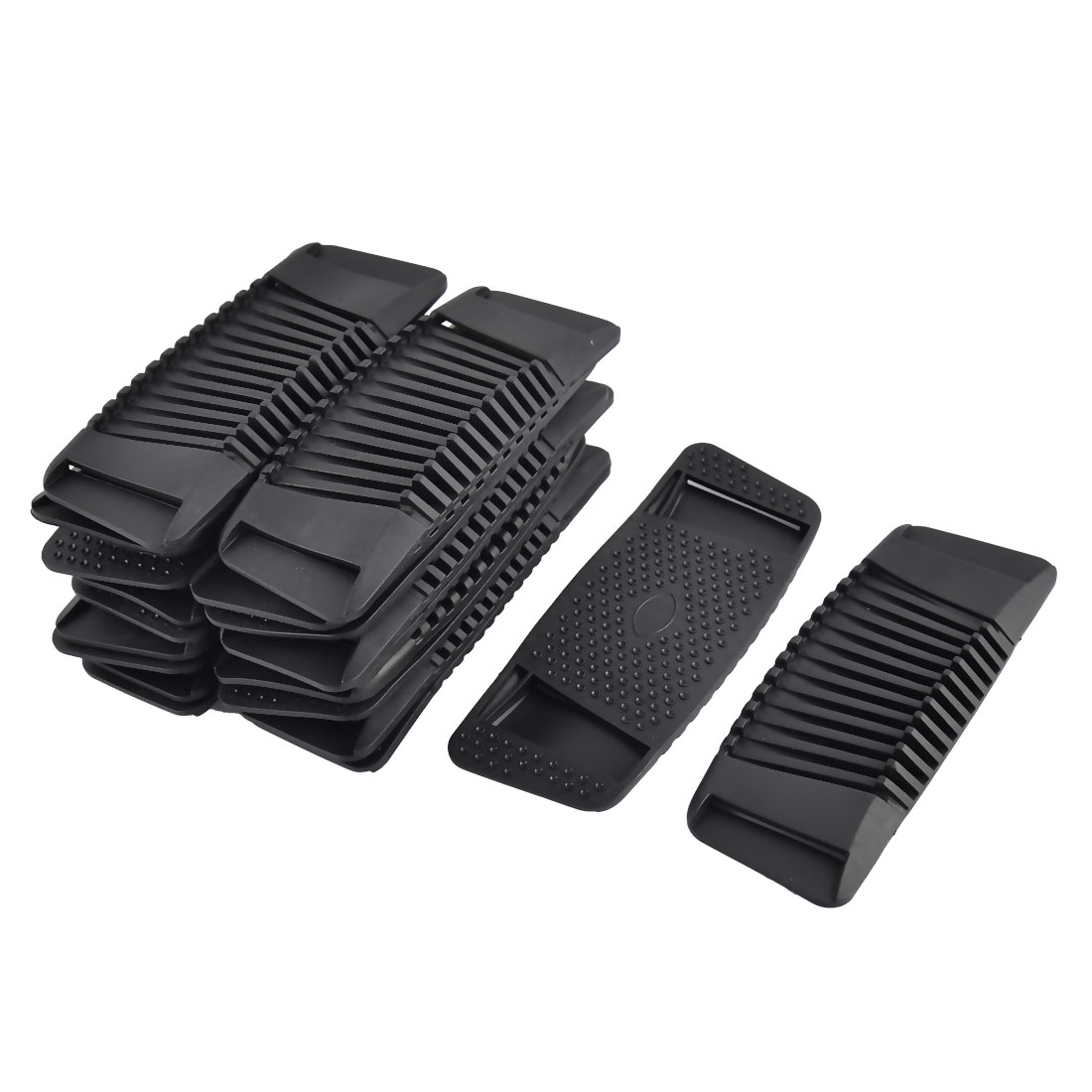 Backpack Plastic Rectangle Non-slip Replacement Bag Strap Pads Black 20pcs
