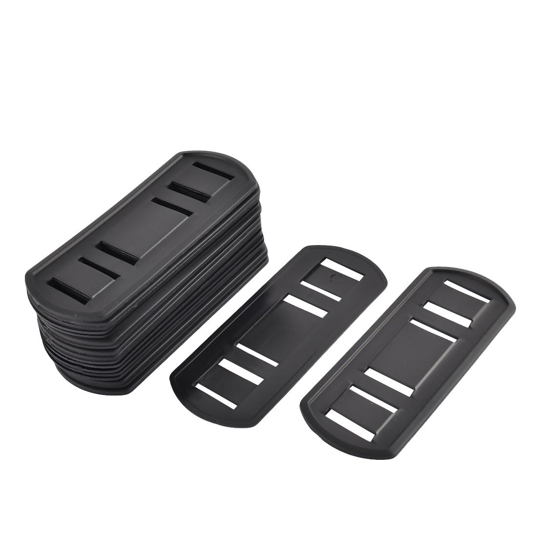 Suitcase Plastic Anti-slip Replacement Shoulder Bag Strap Pads Black 20pcs