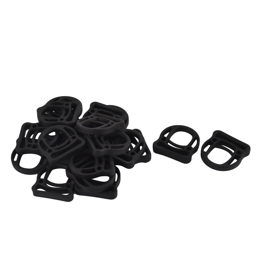 Backpack Plastic D Shaped Removable Belt Strap Bag Buckles Black 25mm 20pcs