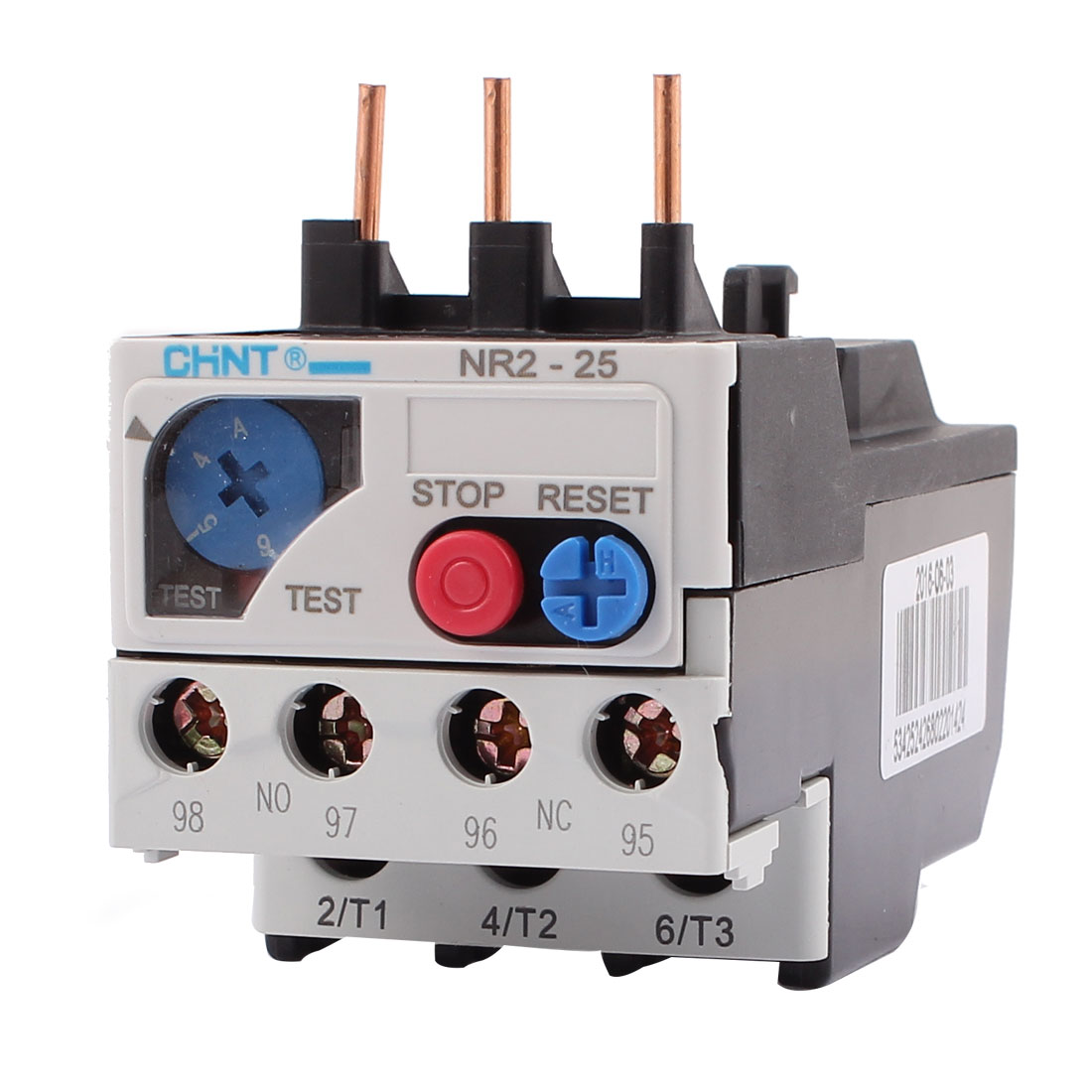 NR2-25/Z 4-6A 3 Pole 1 NO 1 NC Motor Protector Electric Thermal Overload Relay