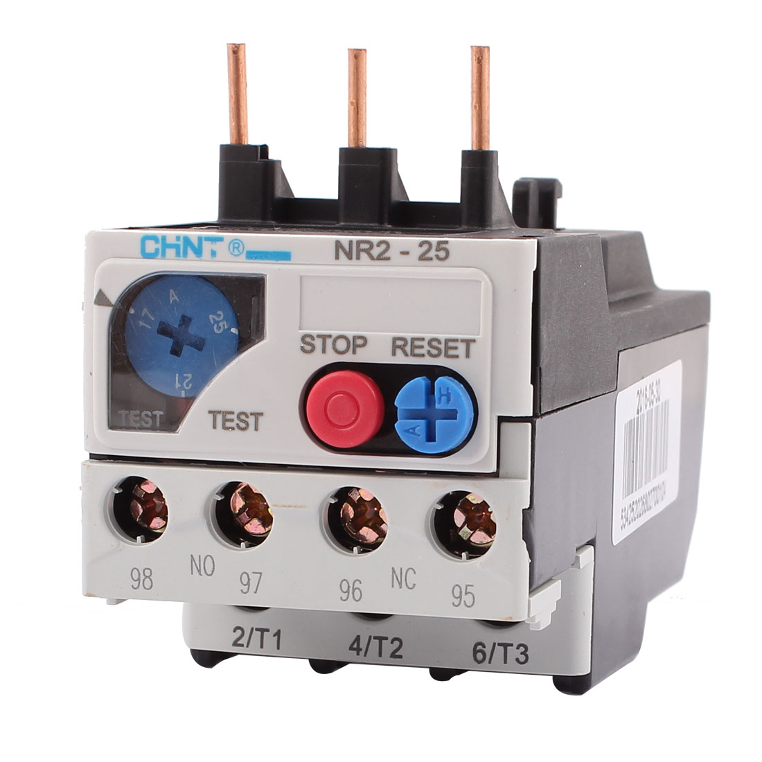 NR2-25 17-25A 3 Pole 1 NO 1 NC Motor Protector Electric Thermal Overload Relay