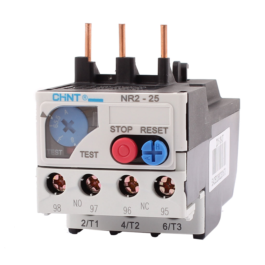 NR2-25 5.5-8A 3 Pole 1 NO 1 NC Motor Protector Electric Thermal Overload Relay