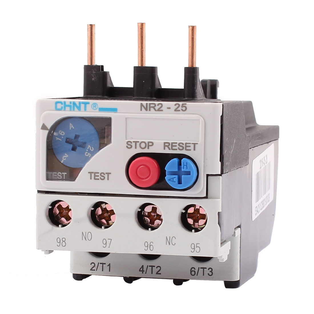 NR2-25 1.6-2.5A 3 Pole 1 NO 1 NC Motor Protector Electric Thermal Overload Relay